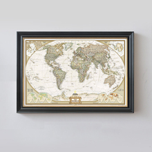 Buy Rushed Sticker Classic World Map English Retro Kraft Paper Poster Decorative Painting Core 72.5x47.5 CM Vintage Wall Sticker for $1.92 in AliExpress store