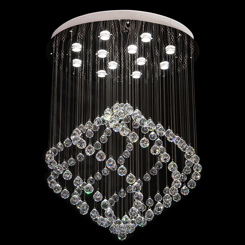 85-265 - v led crystal LAMP sitting room dining-room upscale office crystal droplight villa hotel lobby Absorb dome light with<br><br>Aliexpress