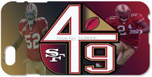 SF San Francisco 49ers Logo Cell Phone Case Plastic Hard Cover For iphone 4 4S 5 5S SE 5C 6 6S Plus For iPod Touch 4 5 6 Cases