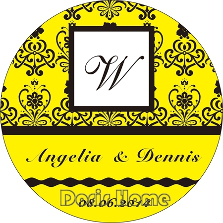 Free Shipping New Customize Adhesive Sticker / Label for Wedding / Baby Shower 3cm,W79(China (Mainland))