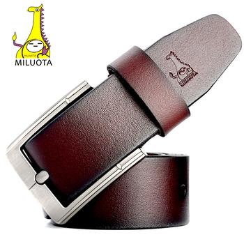 [MILUOTA] 2016 Fashion Designer Belts Men High Quality Cow Genuine Leather Strap Man Belt MU065