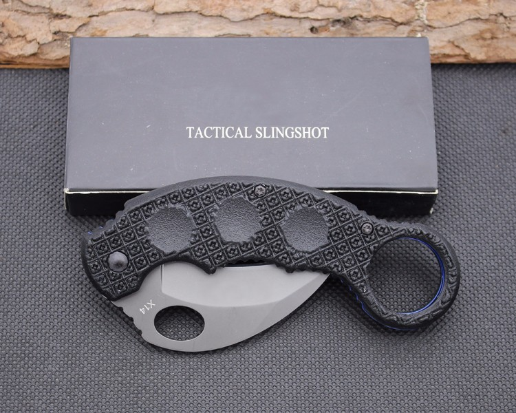 Buy Karambit Claw Knife USA Folding Knife 440 Blade Survival Hunting Camping Tactical Knives Outdoor EDC Tools xx51 cheap