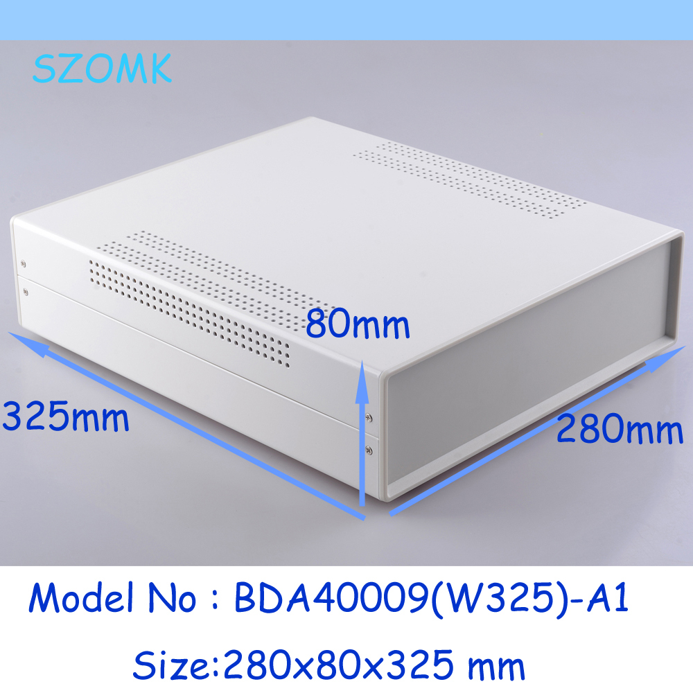 (1pc)280x80x325mm steel enclosure electronic enclosure metal box standard iron device box enclosure industrial case diy iron box(China (Mainland))