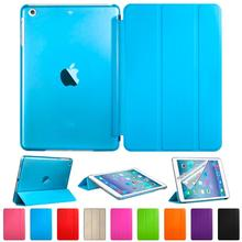 for iPad Mini 1 2 3 Luxury Full Body Ultra Slim Stand Smart Sleep and Wake UP PU Leather Clear Transparent Back Cover Case(China (Mainland))