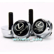 Wholesale  New Metal Lexus EMBLEM Logo LICENSE PLATE FRAME Caps BOLTS Screws(China (Mainland))