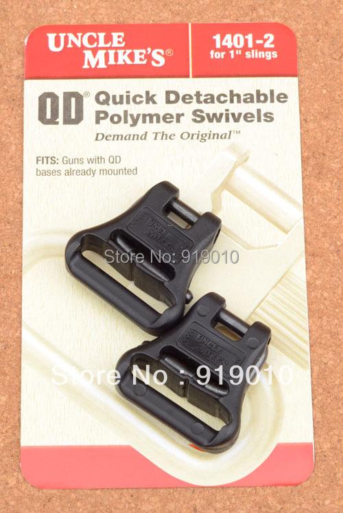 "Uncle mikes QD Super Gun sling swivels for 1"" slings Free shipping 1401-2 M1521 hunting shooting(China (Mainland))"