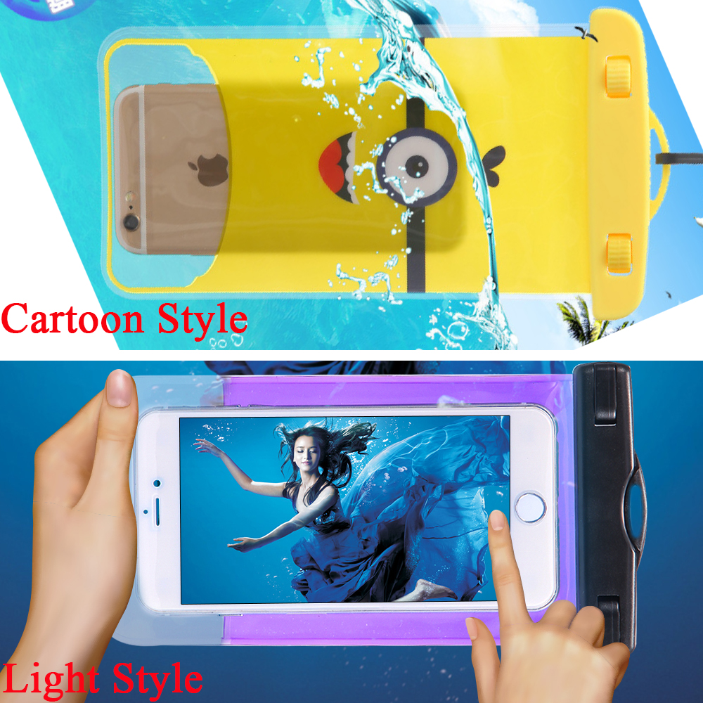 """For DNS S4506 Waterproof Pouch For Lenovo Vibe P1m 5.0 Underwater Phone Bag For OnePlus X OneplusX Waterproof Phone Case 6""""(China (Mainland))"""