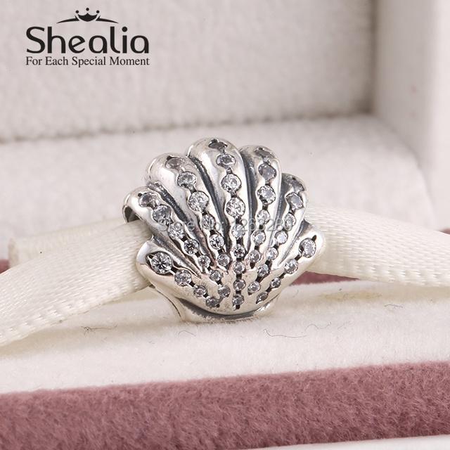 Весна 2015 новый ариэль оболочки прелести с четкими cz подлинная стерлингового серебра 925 ювелирных украшений для женщин известный браслеты diy