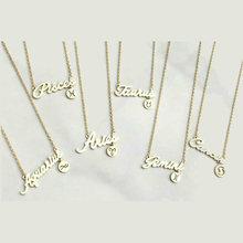 Stainless Steel Jewelry Bridesmaid Gift Gold Plated Letter Necklace With Little Charms Statement Necklaces Pendants For Women(China (Mainland))