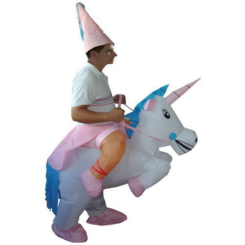 Party Application Inflatable Unicorn Costume set for Cool Men Costume Inflatable Halloween ...