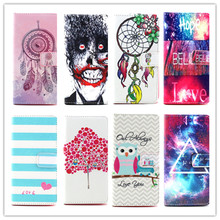 New Arrival Colorful pattern Flip PU Leather Case Stand Function wallet Card Holder Phone Cover For BQ Aquaris E5 4G Case 5 Inch