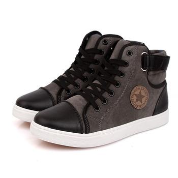 Весна зима кроссовки для мужчины свободного покроя брезент обувь высокая верхний ...