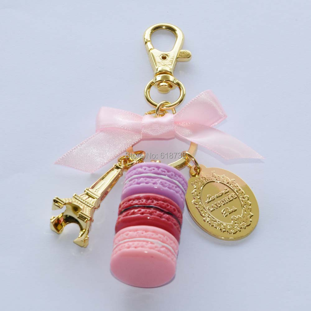 Big size laduree macaron key chain-pink.JPG