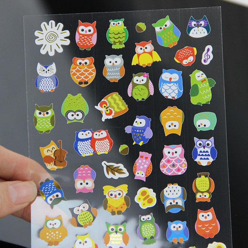 1pcs DIY Cartoon Giraffe transparent Sticker Lovely Calendar Deco Owl Sticker Writing Memo Pad for Children Gift Stationery(China (Mainland))