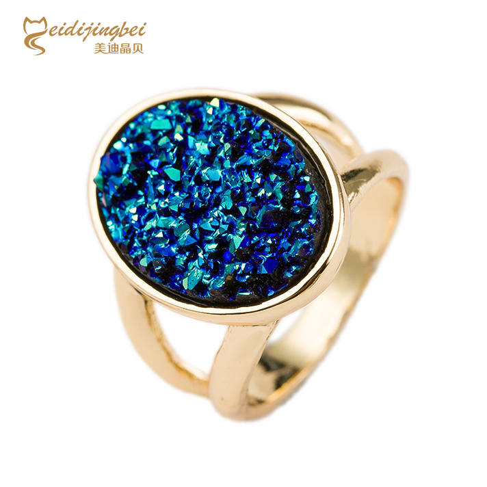 Multicolor Rhinestone Romantic Gold Color Created Gemstone Wedding Rings New 2015 Fashion Jewelry Feminino For Women(China (Mainland))