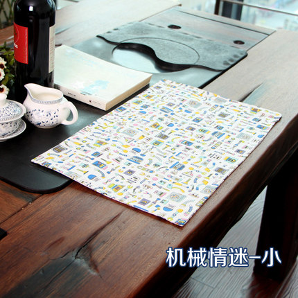 DIY Creative Non-waterproof Non-slip Placemat Table Mat Antiskid Cup Heat-insulated Kitchen Drawer Dinning Bowl Pad Mat WZ(China (Mainland))