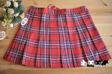 Princess sweet lolita skirt college/cosplay uniform wind joker Scotland students pleated skirt QB-0038