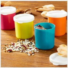 Colorful plastic snack food-grade tubular container sealed with a lid mini storage tank 210ml 31g(China (Mainland))