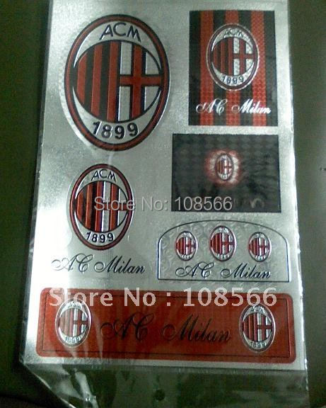 acmilan waterproof car sticker /  fans personalized stickers