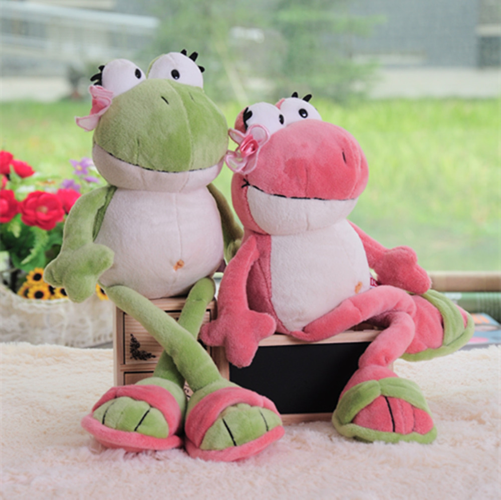 candice guo! Super cute Nici plush toy couple flower Frog wearing slipper frog stuffed doll lover birthday gift 1pc(China (Mainland))