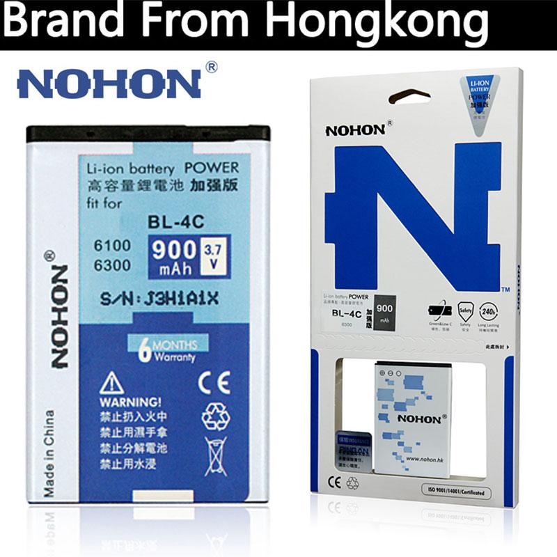 NOHON Original Mobile Phone Battery BL-4C For Nokia 1265 1325 1661 2650 2652 3500c 5100 6100 6101 6103 900mAh Retail packaging(China (Mainland))