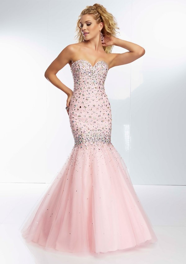 Appglecturas: Light Pink Mermaid Prom Dress Images