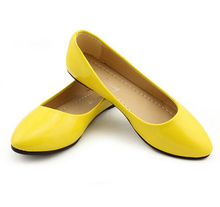 2015 Basic Solid Candy Color Women Flats PU Leather Ballet Woman Ladies Shoes Casual Slip On XWD714(China (Mainland))
