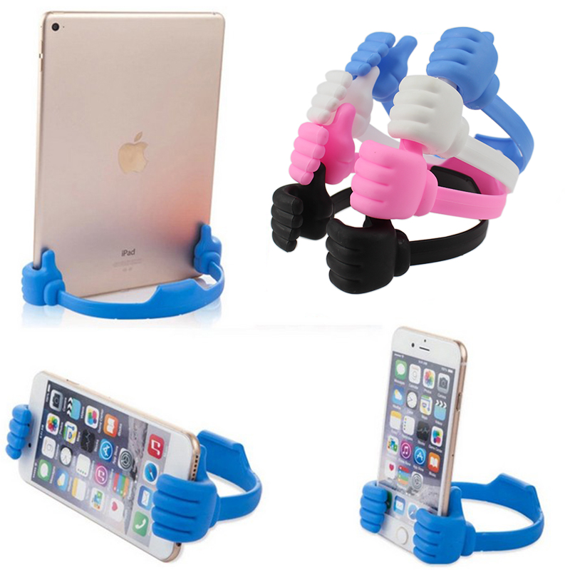 Thumb Phone Table Mount Stand Bracket Universal Mobile Cell Phone Holder for iPhone 5S 6 6S plus For Samsung Smartphone Tablet(China (Mainland))