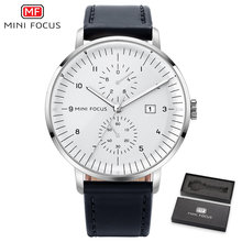 Mini Fokus Mens Watches Top Brand Luxury QUARTZ Watch Pria Kalender Bisnis Kulit Pria Warna Tahan Air Reloj Hombre(China)