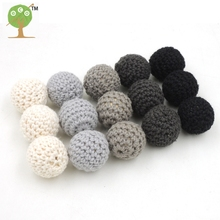 Buy DIY 20MM WOODEN BEADS black grey Chunky wooden crochet beads Kids finding handmade 15 PCS pattern EA229 ) for $6.57 in AliExpress store