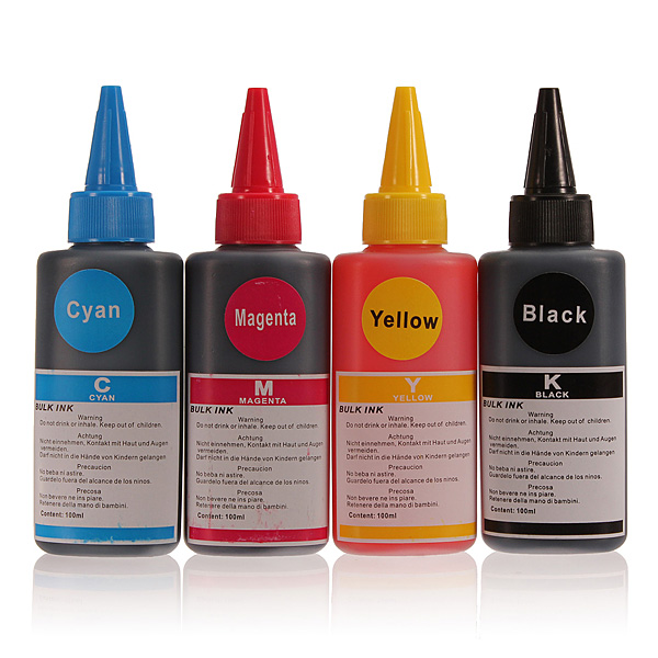100ML Colorful Refill Ink universal Compatible for HP for Canon for Samsung and Other Brand Printer Cyan Magenta Ink Cartridges(China (Mainland))