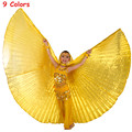 Belly Dance Wings Egypt Isis Wing Feather Dance Wear Wing with 9 Colors Gold Dance Accessories