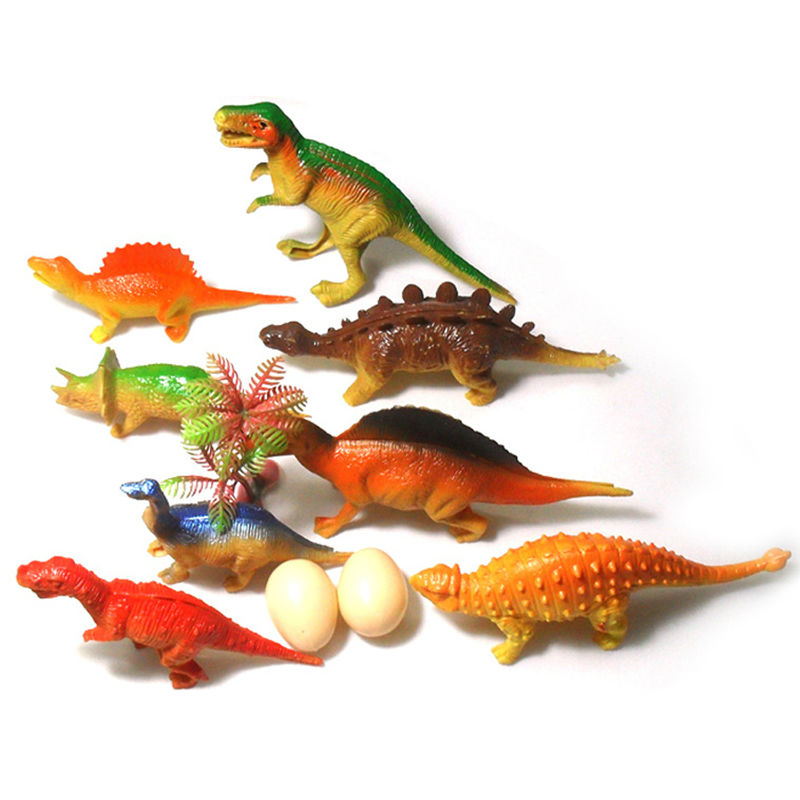 8Pcs Simulation Jurassic Park Animals World Dinosaur Toys Kids Unique Toys Children Gift Baby Kid's Toy(China (Mainland))
