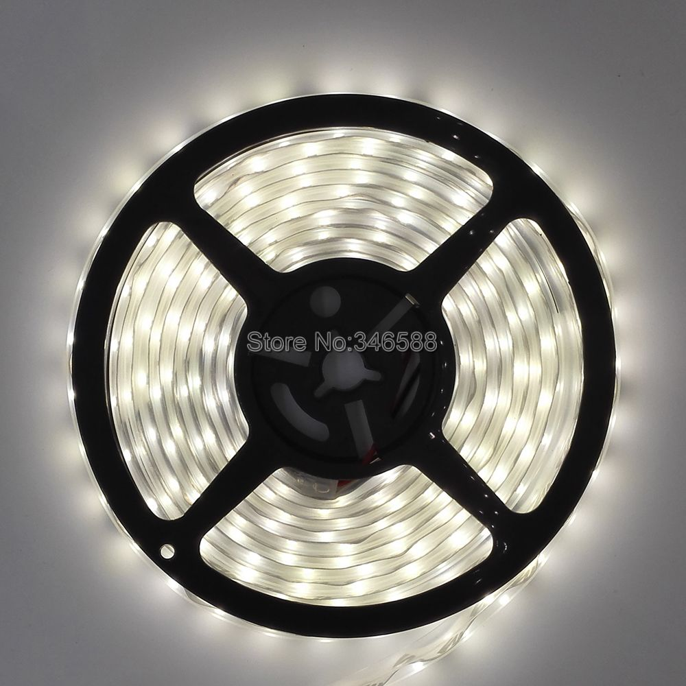 5M DC12V 60LED/M 5630 SMD Nature White 4000-4500K Flexible LED Strip, IP20 Non-waterproof, IP65 Epoxy/IP67 Silicone Wateproof(China (Mainland))