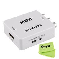 HDMI to AV Adapter HDMI to CVBS Converter HDMI RCA Signal Adapter NTSC PAL Adapter for TV PS3 VHS VCR DVD DDA55-P3841
