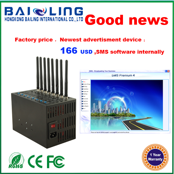 Hot sale !!! 40% discount MC55 gsm 8 port modem pool support TCP IP GSM 900/1800/1900MHZ GSM modem(China (Mainland))