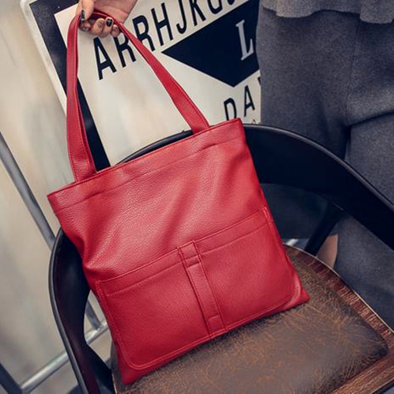 Handbag Hot Sale New Fashion PU Leather Women Big Shoulder Bags Zipper Soft Ladies Bag High Quality Bolsas Femininas(China (Mainland))