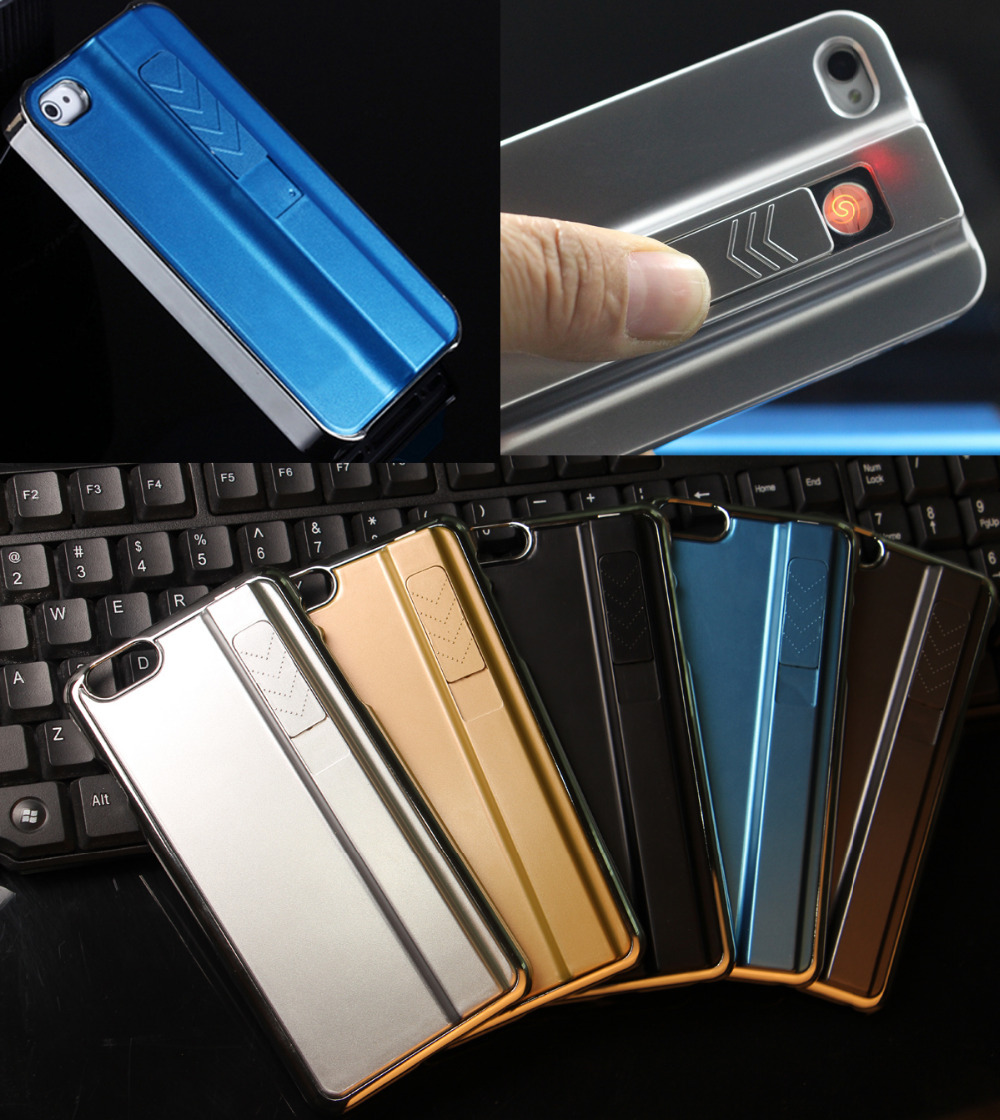 """2in1 Cool Design Phone Case Cigarette Lighter Metal Cover for Cell Phone Apple iphone 6 Plus + 5.5""""(China (Mainland))"""