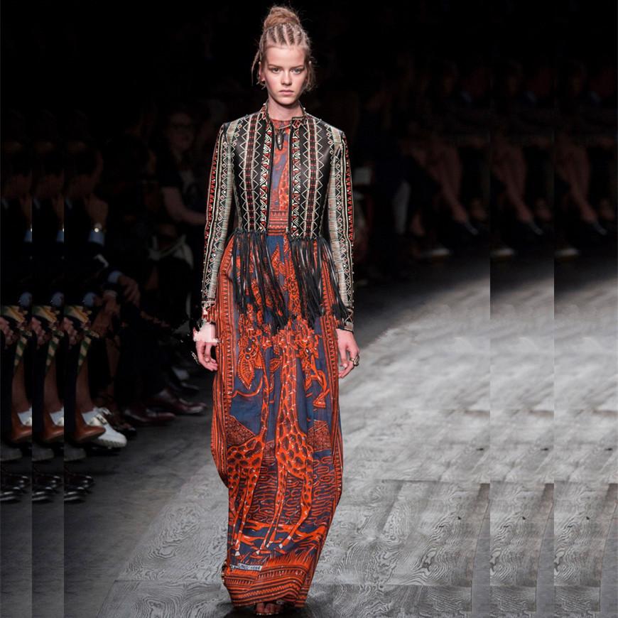New 2016 women spring runway fashion Dress elegant attract prints sleeveless tank designer dress long beach dress D5124Одежда и ак�е��уары<br><br><br>Aliexpress