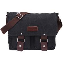 2016 Hot Men Canvas Bag Casual Travel Bolsa Black Men's Crossbody Bag Men Messenger Bags Women Satchel Brand Business Briefcase