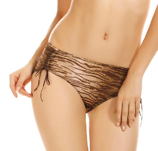 Free shipping 2pcs/lot Sexy Women's Zebra Printing Ribbon Bow Panties Underwear Ladies Briefs Women Sexy Lingerie Y5(China (Mainland))