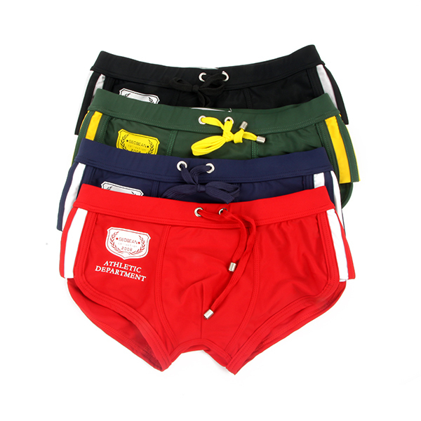 Mens Low-rise Swim Trunks Nylon Rope Tie Swimwear Boxers Underwear S-XL 4colors Drop Shipping Free ShippingОдежда и ак�е��уары<br><br><br>Aliexpress