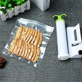 Food storage bags vacuum bags containing suction device 10 can be reused