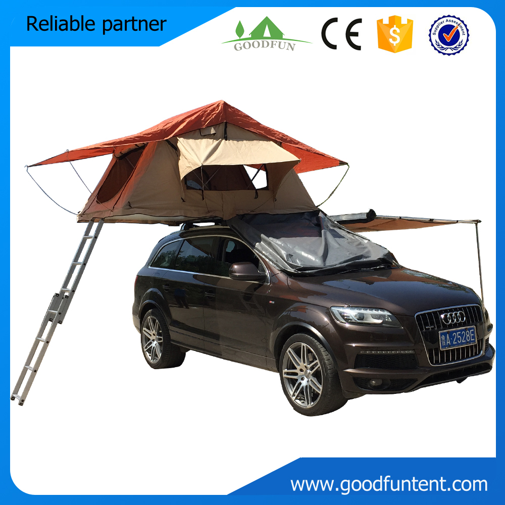 Aluminum Pole Material 3-4 persons Type camping car roof top tent(China (Mainland))