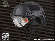 NEW Emerson FAST Helmet with Protective Goggle BJ Type helmet Military airsoft helmet Black EM8818B(China (Mainland))