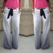 summer style women 2015 Summer Style Women Pants Casual Loose Striped Sport  Harem Pants Pantalones Mujer Palazzo Pants Trousers(China (Mainland))