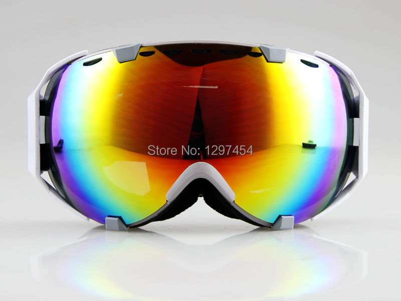 Free Shipping 2016 new dual lens Unisex uv-protection anti-fog snow sking ski goggles Glasses snowboarding snowboad 1006(China (Mainland))