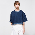 Cool Fashion Retro T Shirts Women s Batwing Shirts Woman Denim Tshirt Loose Elegant Classic Womens
