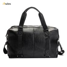 Awen - Molle Pouch Large Capacity Male Leather Travel Bag Casual Luggage Bag Handbag Multifunction Tactical Shoulder Bag Bolsos(China (Mainland))