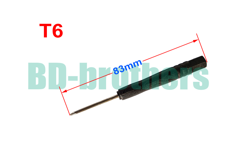 83mm Black T6 Screwdriver Hex Torx Screw Drivers Open Tool for Hard Disk Circuit Board Phone Opening Repair 2000pcs/lot(China (Mainland))